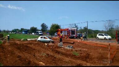 Homem de 33 anos fica ferido em acidente na Avenida das Cataratas - O acidente foi no começo da tarde de domingo.