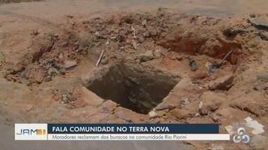 Fala Comunidade: Moradora reclama de buracos no bairro Terra Nova - Denúncia foi feita pelo Tô na Rede.