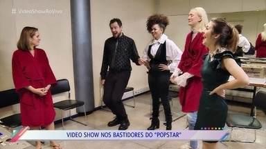 Veja os preparativos do segundo dia de gravação do 'PopStar' - Vivian Amorim mostra como as celebridades se preparam para as apresentações