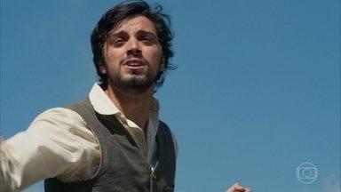Ernesto tenta salvar as pessoas no trem - Para isso ele arrisca a própria vida