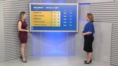 Primavera começa com altas temperaturas no Oeste Paulista - Termômetros marcaram 35 graus em Presidente Prudente nesta segunda-feira (24).