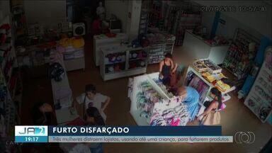 Mulheres usam até crianças para distrair vendedoras e furtar lojas em Gurupi - Mulheres usam até crianças para distrair vendedoras e furtar lojas em Gurupi