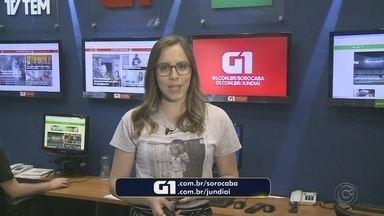 Carol Andrade traz os destaques do G1 Sorocaba e Jundiaí nesta terça-feira - A repórter Carol Andrade traz os destaques do G1 Sorocaba e Jundiaí nesta terça-feira (25).