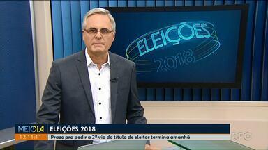 Prazo pra pedir a segunda via do título de eleitor termina amanhã - Quem estiver nessa situação deve procurar o Fórum Eleitoral.