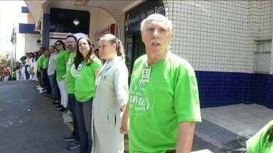 Ação em prol da semana de doação de órgãos é realizada em Volta Redonda, RJ - Objetivo foi conscientizar a população sobre a importância da doação de orgãos e tecidos.