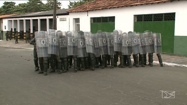 Militares do exército passam por treinamento para as eleições no MA - A pedido do TRE, uma tropa vai atuar em 72 cidades do Maranhão.
