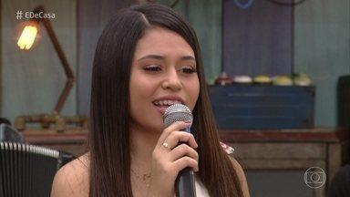 Eduarda Brasil canta 'Amiga Que Presta' - Campeã do 'The Voice Kids' anima a manhã de sábado no 'É de Casa'