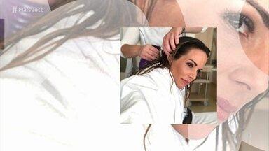 Ana Furtado fala sobre a touca que usou para minimizar a queda de cabelo - Apresentadora faz alerta sobre falsos produtos e pede para que as pessoas tomem cuidado
