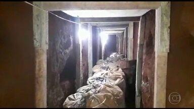 Polícia do Paraguai descobre túnel em presídio na fronteira com o Brasil - Segundo as investigações, túnel foi construído para libertar integrantes de facção criminosa brasileira. Polícia encontrou ainda 40 kg de maconha.
