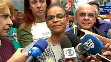 Candidata da Rede, Marina Silva, faz campanha no Rio de Janeiro - Jornal Nacional mostra como foram as atividades de campanha de candidatos à presidência nesta sexta-feira (5).