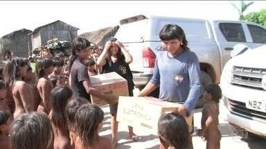 Centenas de índios vão votar pela primeira vez - Eles passaram por treinamento para usar a urna eletrônica. Sete aldeias de Mato Grosso vão ter sessões eleitorais.