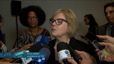 TSE faz a verificação dos programas dos sistemas de urnas eletrônicas - A presidente do Tribunal, Ministra Rosa Weber, destacou a transparência do sistema eleitoral brasileiro