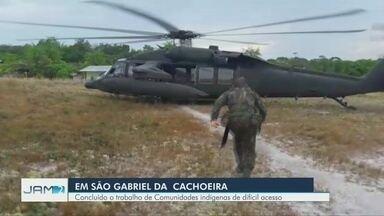 Entrega de urnas eletrônicas em São Gabriel da Cachoeira, no AM, é finalizada - O trabalho de envio das urnas eletrônicas para as comunidades indígenas de difícil acesso na zona rural foi feito com helicóptero e avião.