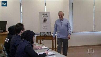 Michel Temer vota em São Paulo - O presidente votou na manhã deste domingo (7).