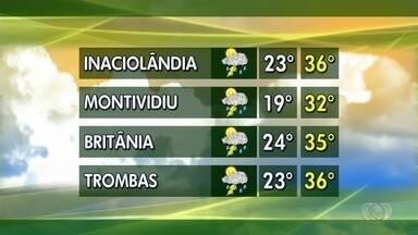 Confira como fica a previsão do tempo para esta semana em Goiás - Em Montividiu, temperatura pode cair par 19ºC.