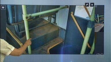Passageira reclama de ônibus sujo em Goiânia - Empresa disse que ficou surpresa com a situação.