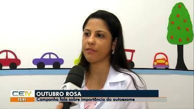 Outubro Rosa conscientiza sobre a importância do autoexame - Saiba mais em g1.com.br/ce