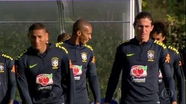 Seleção brasileira se prepara em Londres para o amistoso contra a Arábia Saudita, na sexta - Seleção brasileira se prepara em Londres para o amistoso contra a Arábia Saudita, na sexta