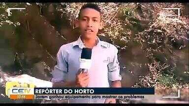Jovem ganha equipamento para mostrar problemas em Juazeiro do Norte - Saiba mais em g1.com.br/ce