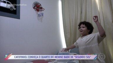 Davi Queiroz apresenta sua família e abre sua casa para o 'Vídeo Show' - Menino interpreta o pequeno Badu na novela 'Segundo sol'