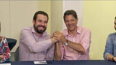 Candidato do PT, Fernando Haddad, passa o dia em São Paulo - Jornal Nacional mostra como foram as atividades de campanha de candidatos à presidência nesta terça-feira (9).