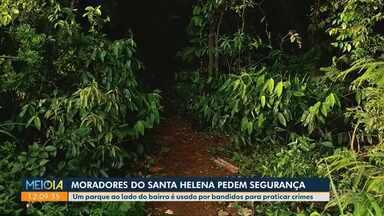Moradores do Jardim Santa Helena pedem mais segurança - Eles reclamam que bandidos utilizam um mata próxima ao bairro como esconderijo
