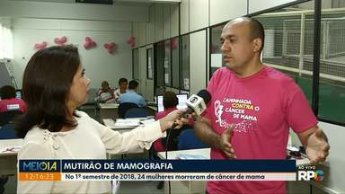 Secretaria de Saúde faz mutirão de mamografias em Maringá - Foco do mutirão são mulheres entre 50 e 69 anos. Devem ser feitos mais de 1.200 exames.