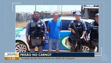 Polícia Militar prendeu em Calçoene foragido da Justiça de São Paulo, no AP - Suspeito confessou ter matado a mulher a golpes de faca, o crime ocorreu em fevereiro