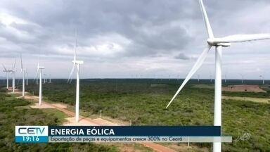 Energia eólica foi responsável por 48% do fornecimento de eletricidade no último ano - Veja mais notícias em g1.com.br/ce