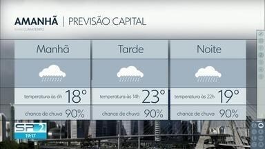 Véspera de feriadão deve ser de muita chuva - A temperatura máxima não passa dos 23 graus na capital e no litoral pode ter ressaca