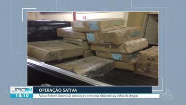 PF desarticula associação criminosa dedicada ao tráfico de drogas - Quase 20 mandados foram cumpridos em RO, MS E PR.