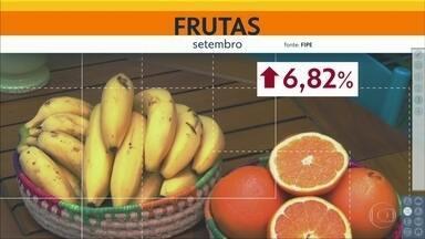 Preço das frutas subiu quase 7% na Capital em setembro - Latícinios, por sua vez, ficaram 1,56% mais baratos.