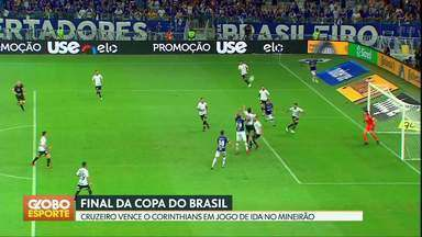 Cruzeiro sai na frente do Corinthians na decisão da Copa do Brasil - Raposa vence por 1 a 0 com gol de Thiago Neves. Jogo de volta é no dia 17/10, na Arena Corinthians.