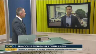 Senador Acir Gurgacz se entrega no Paraná, mas passa mal e acaba hospitalizado - O senador do PDT se entregou ontem (10) em Cascavel, mas passou mal e acabou hospitalizado.