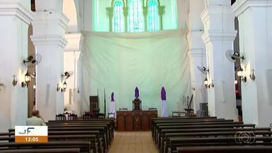 Em Porto Nacional catedral Nossa Senhora das Mercês é interditada para restauração - Em Porto Nacional catedral Nossa Senhora das Mercês é interditada para restauração