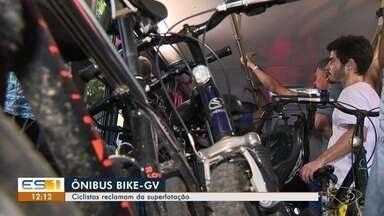 Ciclistas reclamam de superlotação de ônibus do Bike GV na Grande Vitória - Tem apenas dois ônibus para os ciclistas atravessarem a 3ª ponte.