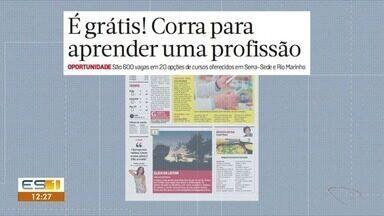 Cursos abertos com mais de 600 vagas para moradores da Serra e Vila Velha - Para quem deseja se qualificar, são 20 opções de cursos gratuitos.