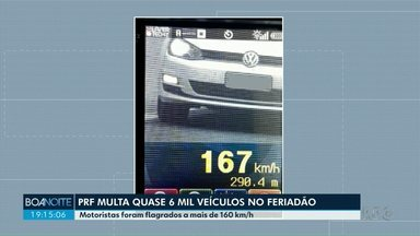 PRF multa quase seis mil veículos no Estado nesse feriado - Na região de Maringá, o número de acidentes caiu em comparação ao mesmo feriado do ano passado. Tanto em rodovias federais quanto em estradas estaduais