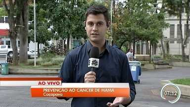 Caçapava tem campanha de prevenção ao câncer de mama - Ação acontece nesta terça na Praça das Bandeiras.