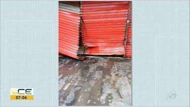 Loja é arrombada no centro de Fortaleza - Saiba mais em g1.com.br/ce