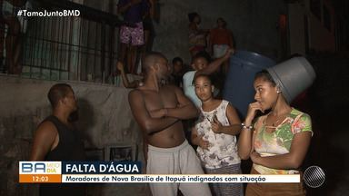 Moradores de Mussurunga e Nova Brasília de Itapuã sofrem com a falta de água - A reportagem foi ao local conferir o problema. Envie sua denúncia para bmd@redebahia.com.br.