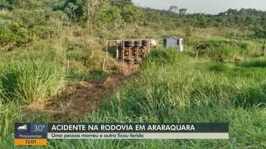 Caminhoneiro de 64 anos morre em acidente na rodovia que liga Araraquara a Jaú - O ajudante dele ficou ferido.