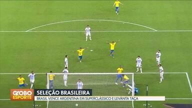 Brasil vence a Argentina com gol de Miranda - Zagueiro marca aos 47 minutos do segundo tempo e Seleção Brasileira fatura o Superclássico.