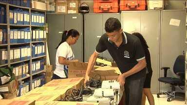 Justiça Eleitoral realiza audiência de carga e lacre em Santa Inês - Procedimento é realizado nas urnas eletrônicas que serão usadas no dia 28 em Santa Inês e mais três cidades do Vale do Pindaré.