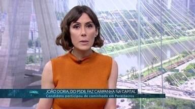 João Doria (PSDB) fez campanha em Parelheiros na manhã deste sábado (20) - Confira a agenda de campanha dos candidatos ao governo de São Paulo.