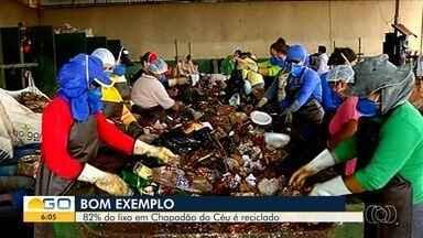 Chapadão do Céu recicla 80% de todo o lixo produzido no município - Só no ano passado, a arrecadação com a venda dos recicláveis foi de mais de R$ 54 mil.