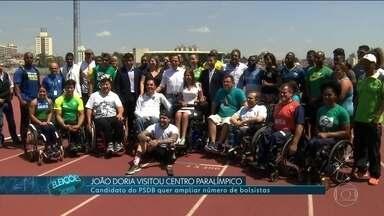 João Doria se encontra com atletas paralímpicos - João Doria, do PSDB, se encontrou com atletas paralímpicos.