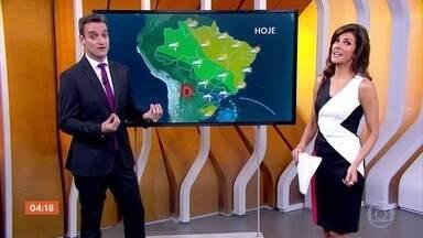 Previsão de chuva em diversas regiões do país nesta quarta-feira (24) - Chuva já começou no interior de São Paulo, assim como em Mato Grosso do Sul e no Paraná.