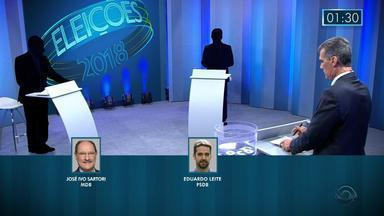 """RBS TV promove debate entre os candidatos ao governo do RS, nesta quinta-feira (25) - Acompanhe nesta quinta-feira (25), depois de """"Segundo Sol"""", com transmissão pela RBS TV e pelo G1 RS."""