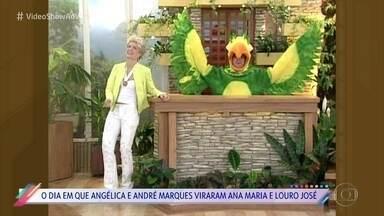 Relembre Angélica e André Marques imitando Ana Maria Braga e Louro José - Brincadeira aconteceu em 2003